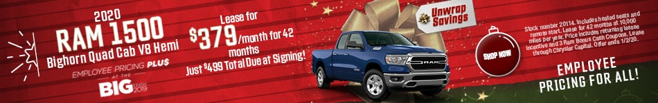 2020 Ram 1500 - December Offer