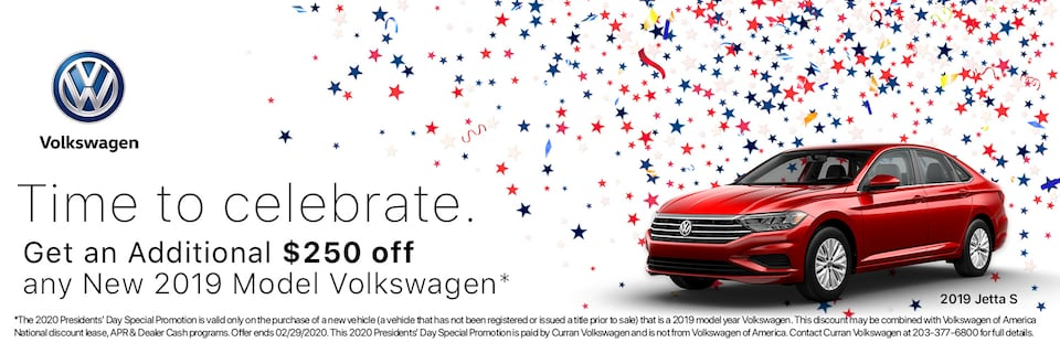 Presidents' Day Special - $250 Off All 2019 Volkswagen Models*