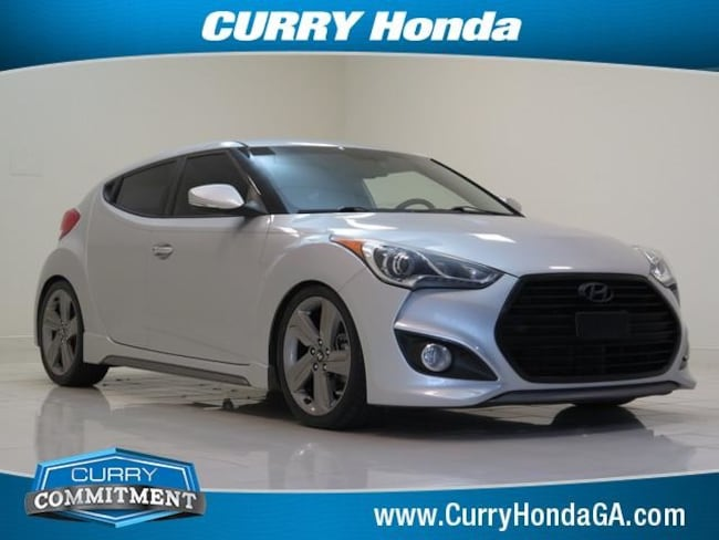 Used 2013 Hyundai Veloster 3dr Cpe Man Turbo w/Black Int Hatchback Manual For Sale in Chamblee, GA