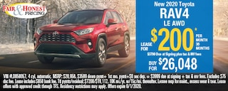 New 2020 Toyota RAV4 LE AWD: Lease for $200 per month 36 months