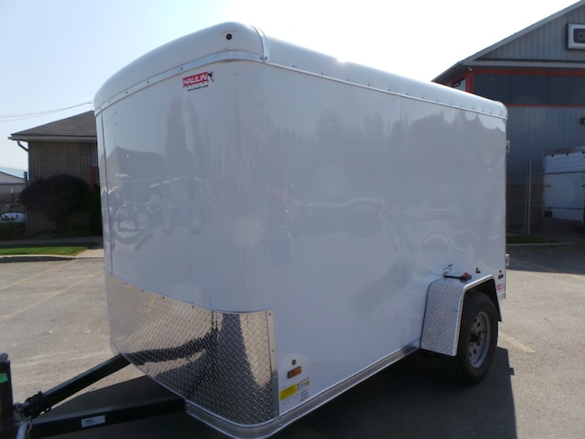 2018 Haulin HALPP610SA - Single Axle Enclosed Trailer  6X10 - White with Barn Doors