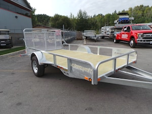 2018 N&N S72144 - 6x12 Utility Trailer  Open Rail ATV/ UTV Trailer