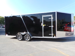 2018 Amera-Lite ADSXT723TA2 - 7x23 Extra Tall snowmobile Trailer  Snow Special Upgrade