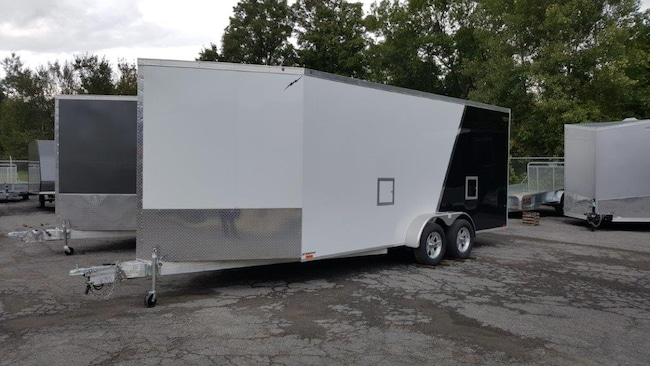 2019 Lightning LTFES718TA2 Drive In Drive Out SnowMobile Trailer