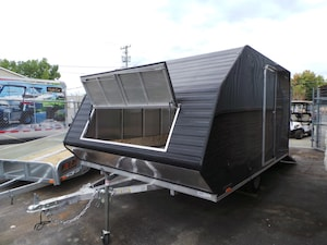 2019 Lightning LTA811SA Black All Aluminum 2 Place Snowmobile Trailer