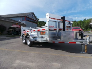2018 N&N 5TON GALVANIZED DUMP TRAILER 6WIDE - 12 LONG
