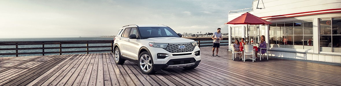 New Ford Explorer on the boardwalk