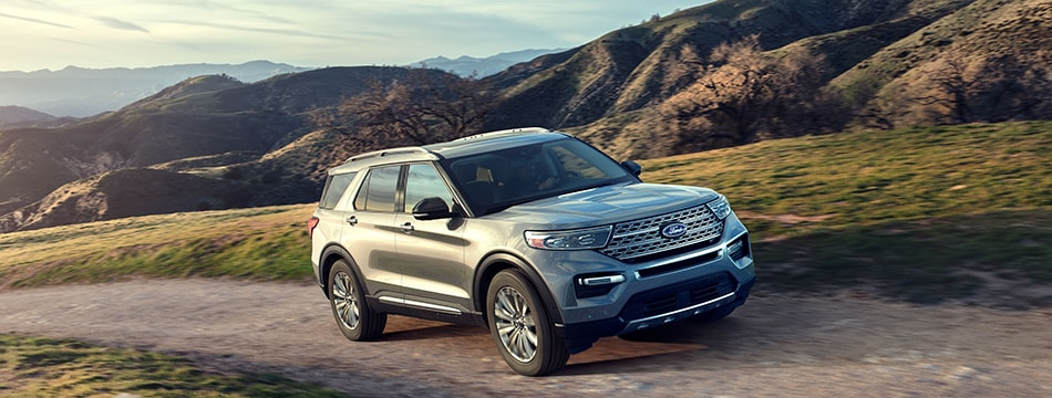2020 Ford Explorer in the hills