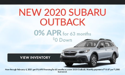 New 2020 Subaru Outback January