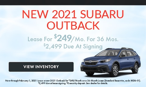 New 2021 Subaru Outback January