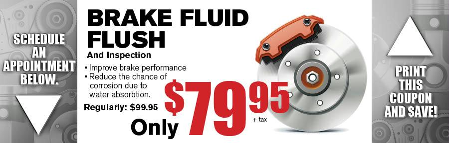 Brake Fluid Flush Camelback Subaru Service Coupon Phoenix Az