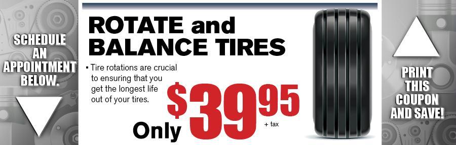 Rotate Amp Balance Tires Camelback Toyota Service Coupon