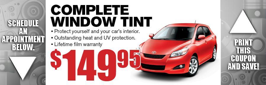 Window Tint Camelback Toyota Service Coupon Phoenix Az