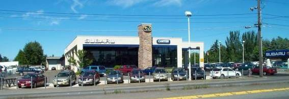 Carter Subaru Shoreline Seattle Dealership Building