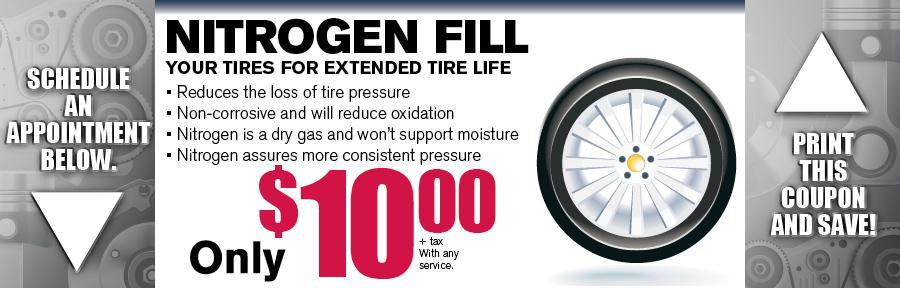 Nitrogen Tire Fill Service   Cerritos Nissan Service ...