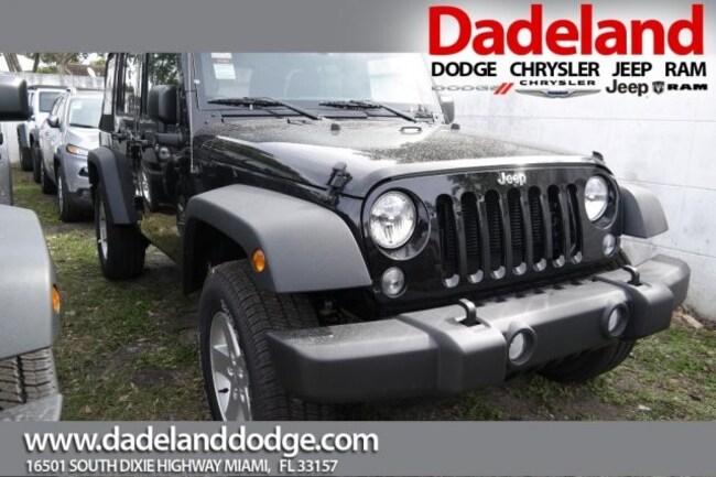 New 2018 Jeep Wrangler Unlimited WRANGLER JK UNLIMITED SPORT S 4X4 Sport Utility in Miami