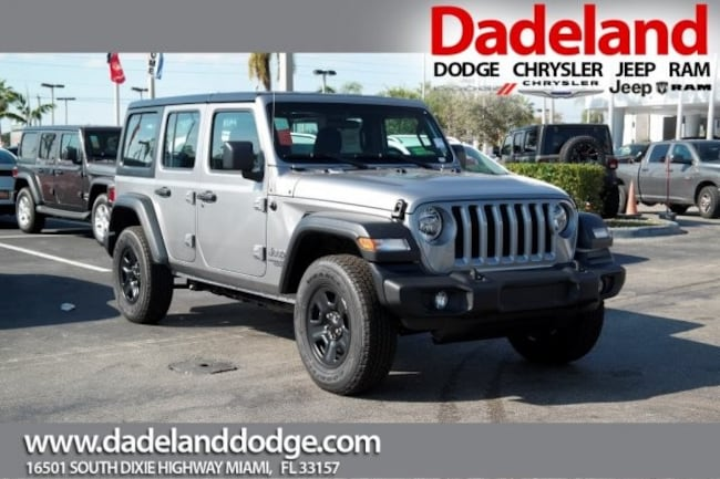 New 2019 Jeep Wrangler UNLIMITED SPORT 4X4 Sport Utility in Miami