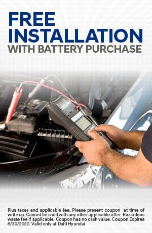 Free Installation with Battery Purchase