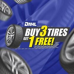 Buy 3 Tires Get 1 Free!