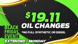 Black Friday Oil Change Special