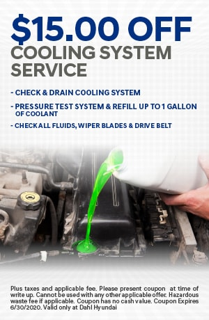 $15.00 off Cooling System Service