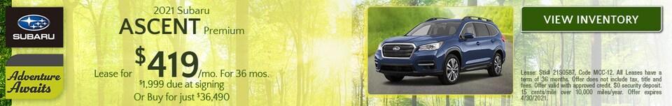 April 2021 Subaru Ascent Premium Offer