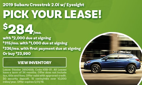 May 2019 Crosstrek Lease Offer