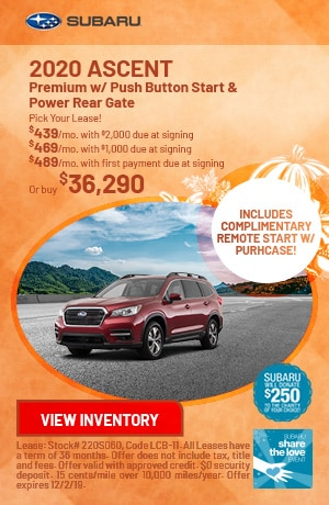 November 2020 Ascent Premium w/ Push Button Start & Power Rear Gate Offers