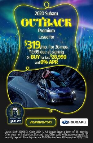 September 2020 Subaru Outback Premium Offer