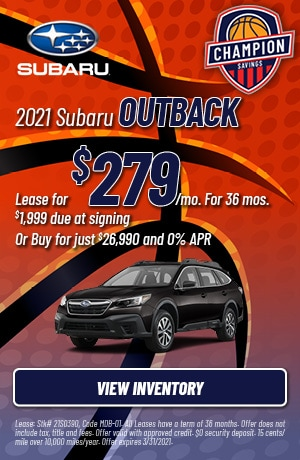 March 2021 Subaru Outback Offers