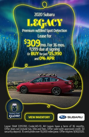 September 2020 Subaru Legacy Premium w/Blind Spot Detection Offer