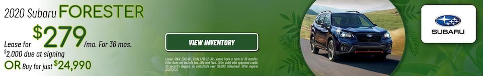 April 2020 Subaru Forester Offers