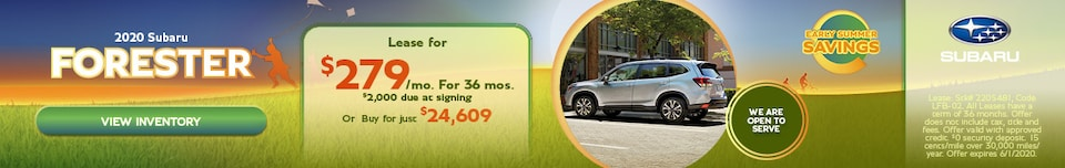 May 2020 Subaru Forester Offers