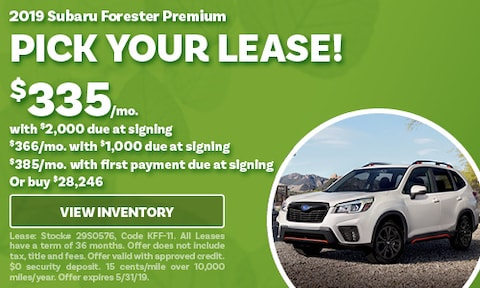 May 2019 Forester Lease Offer