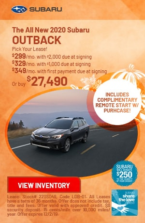 November The All New 2020 Subaru Outback Offers