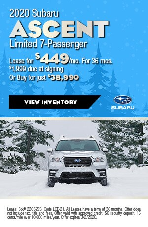 February 2020 Subaru Ascent