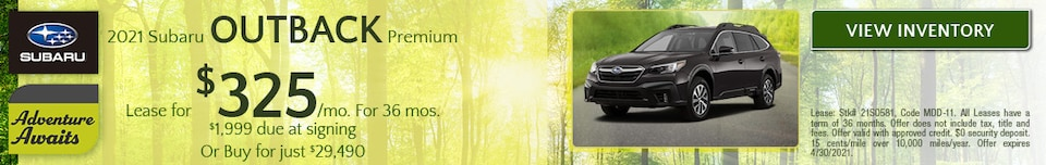 April 2021 Subaru Outback Premium Offer