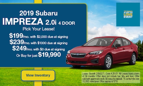March '19 Impreza Lease Offer