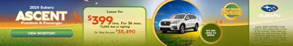 May 2020 Subaru Ascent Premium 8-Passenger Offer