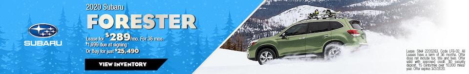 February 2020 Subaru Forester