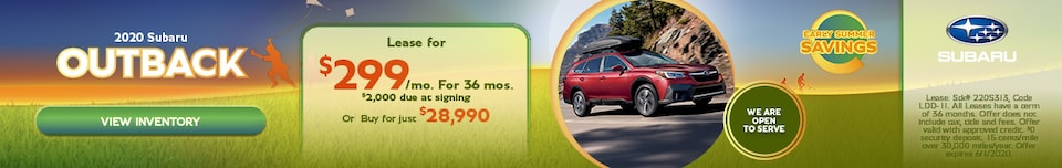 May 2020 Subaru Outback Offers