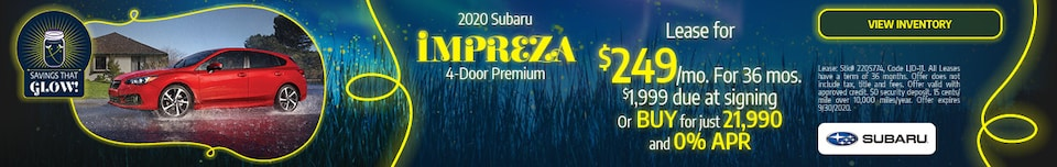 September 2020 Subaru Impreza 4-Door Premium Offer