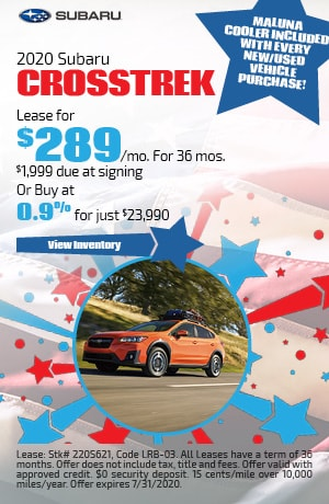 July 2020 Subaru Crosstrek Offer