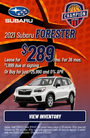 March 2021 Subaru Forester Offers