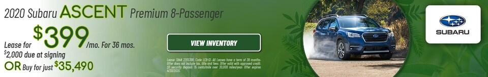 April 2020 Subaru Ascent Premium 8-Passenger Offers