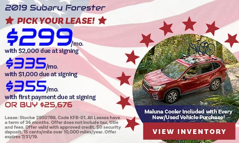 July 2019 Forester Offers