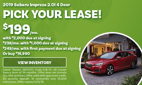 May 2019 Impreza Lease Offer