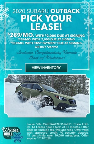 January 2020 Subaru Outback Offers