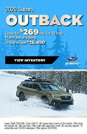 February 2020 Subaru Outback