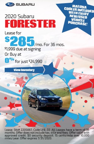 July 2020 Subaru Forester Offer